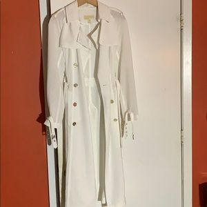 White Trench Coat Michael Kors